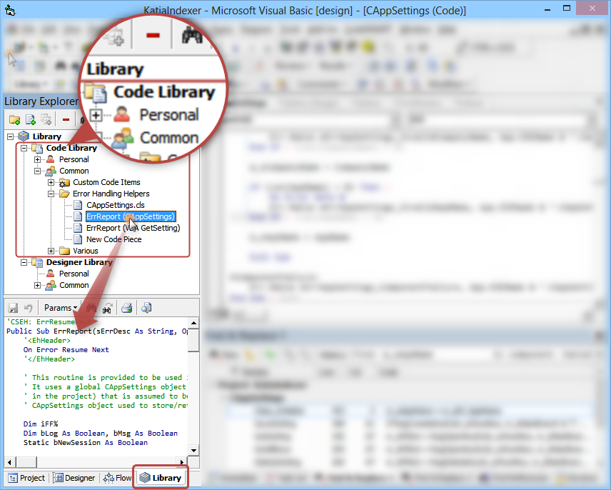 CodeSMART for VB6 - Reusing and sharing code with the Library Explorer